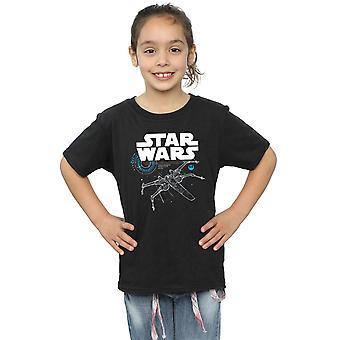 Star Wars T-Shirt für Mädchen der letzten Jedi X-Wing
