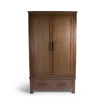 Direct Home Living Ash Double Wardrobe With Drawer