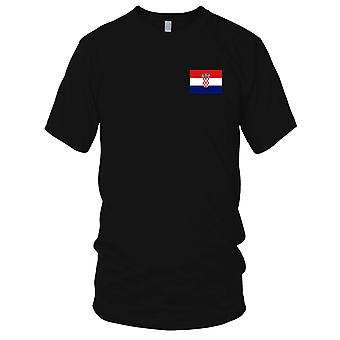 Croatia Country National Flag - Embroidered Logo - 100% Cotton T-Shirt Kids T Shirt