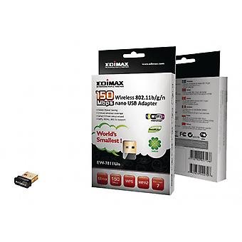 EDIMAX Wireless USB Adapter N150 2.4 GHz Nero