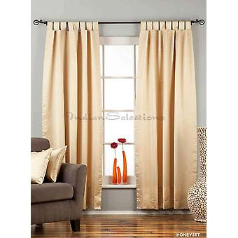 Golden Tab Top 90% blackout Curtain / Drape / Panel  - Piece