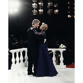 President Bill Clinton and Hillary Dance at Inaugural Ball Washington DC 1993 Poster Print by McMahan Photo Archive (8 x 10)