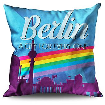 Pride Love Urban Berlin Linen Cushion Pride Love Urban Berlin | Wellcoda
