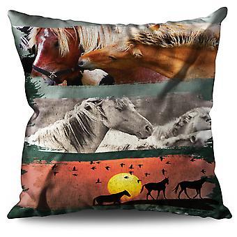 Tier Wild Pferde Bettwäsche Kissen Tier Wildpferde | Wellcoda
