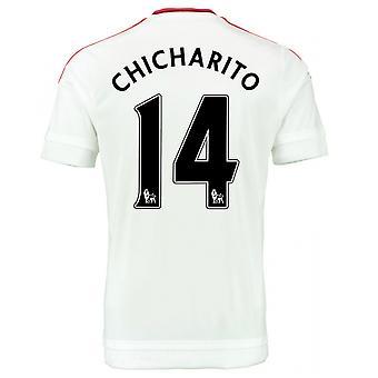 2015-2016 man Utd bort skjorta (Chicharito 14) - barn