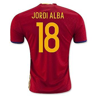 2016-2017 Espagne maillot domicile (Jordi Alba 18)