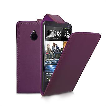 Yousave Accessories HTC One Mini Leather-Effect Flip Case - Purple