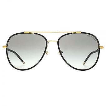 Burberry Pilot Sunglasses In Light Gold Matte Black