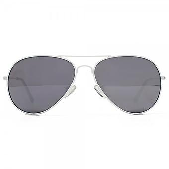M:UK Portobello Classic Pilot Sunglasses In White