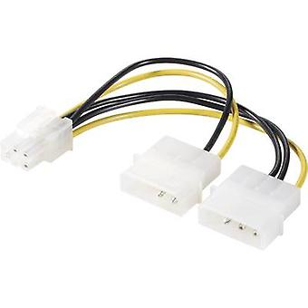 Current Y cable [1x ATX plug 6-pin - 2x IDE power plug 4-pin] 0.15 m