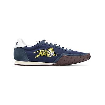 Kenzo men's F005SN122F5676 Blau suede of sneakers
