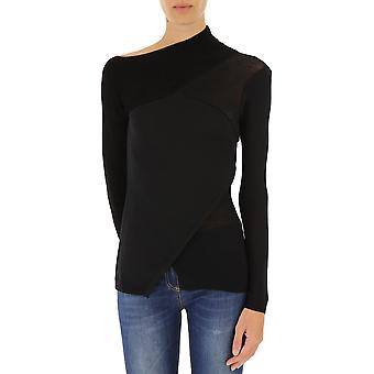 Pinko women's 1B12M6Y3X6Z99 black plastic sweater