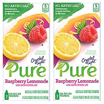 Krystall-lys ren bringebær Lemonade Drink Mix 2 Box Pack