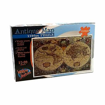 Build & Display Antique Map Plastic Puzzle Set