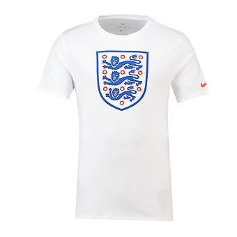 2018-2019 England Nike Evergreen Crest Tee (hvid)