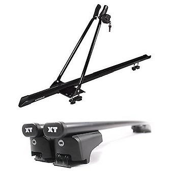 Steel Roof Bars & Bike Carrier for Audi Q7 2006-2015 with Solid Closed Rails