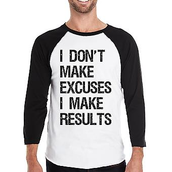 Disculpa resultados béisbol hombres camiseta béisbol gráfico divertido t-shirt