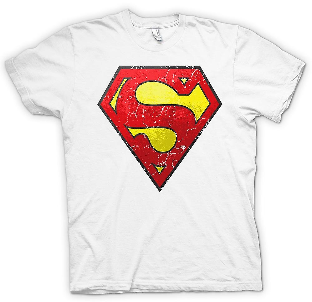 Femmes T-shirt - Superman Logo Distressed - Cool