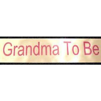Grandma to Be Sash