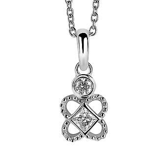 Orphelia Silver 925 Chain With Pendant Flower Zirconium  ZH-6032