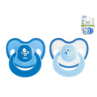 Lulabi 2 Chupetes Silicona Ortodontico Azul 3M (Babies and Children , Toys , Others)