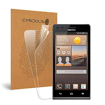 Celicious Vivid Invisible Glossy HD Screen Protector Film Compatible with Huawei Ascend W3 [Pack of 2]