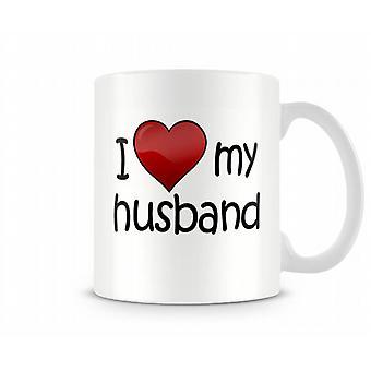 I Love My Husband Printed Mug