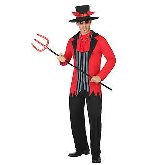 Hombres trajes de disfraz de diablo de halloween