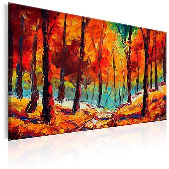 Handgjorda målning - konstnärliga hösten