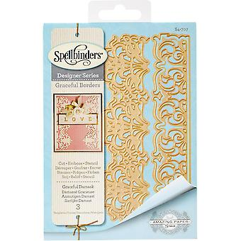 Spellbinders Card Creator Die-Graceful Damask