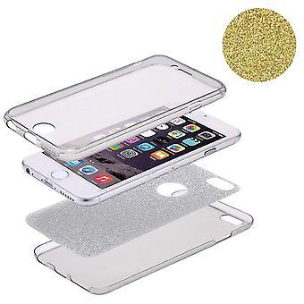 Custodia Crystal per Huawei P9 Lite corpo pieno caso glitter giallo