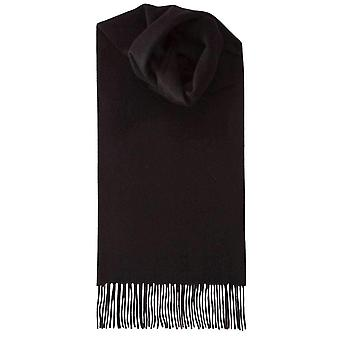 Johnstons of Elgin Lambswool Plain Scarf - Black