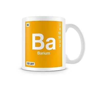 Scientifico stampato tazza con elemento simbolo 056 Ba - bario