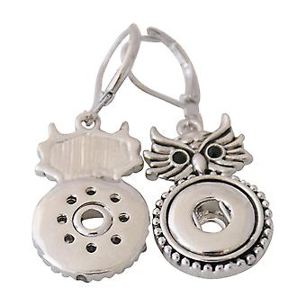Stainless steel earrings for mini click buttons