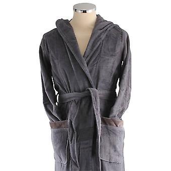 Bown of London Full Moon Luxury Long Dressing Gown - Dark Grey