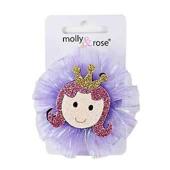Molly & Rose Children's Princess Glitter Hair Clip Purple