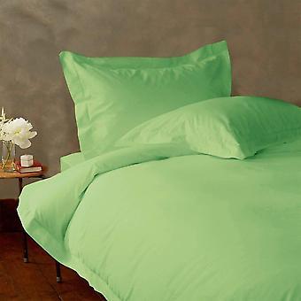 (1000 tc)-100% エジプト綿の羽毛布団カバー セット ライト グリーン