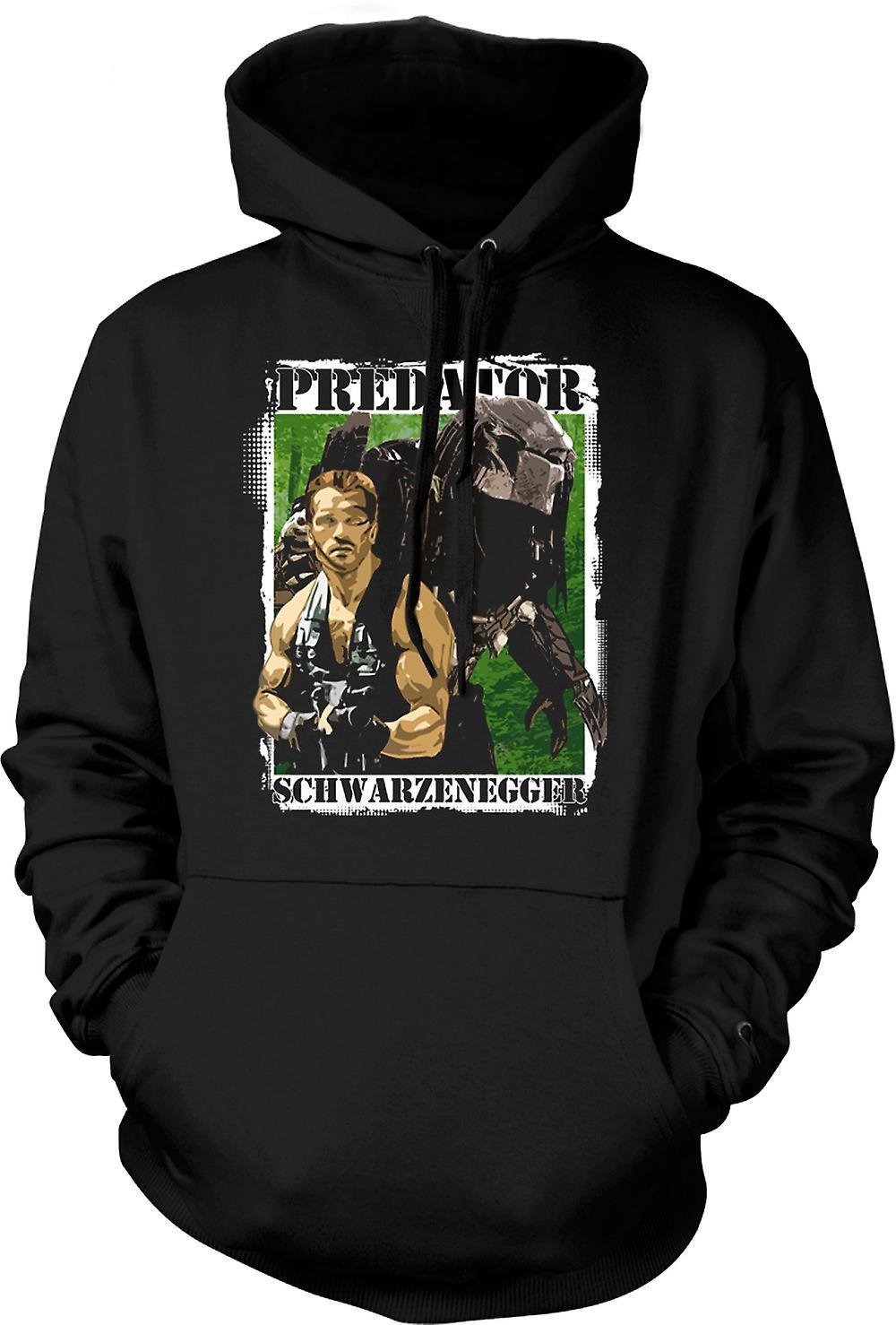 Mens hettegenser - Predator Alien - Schwarzenegger