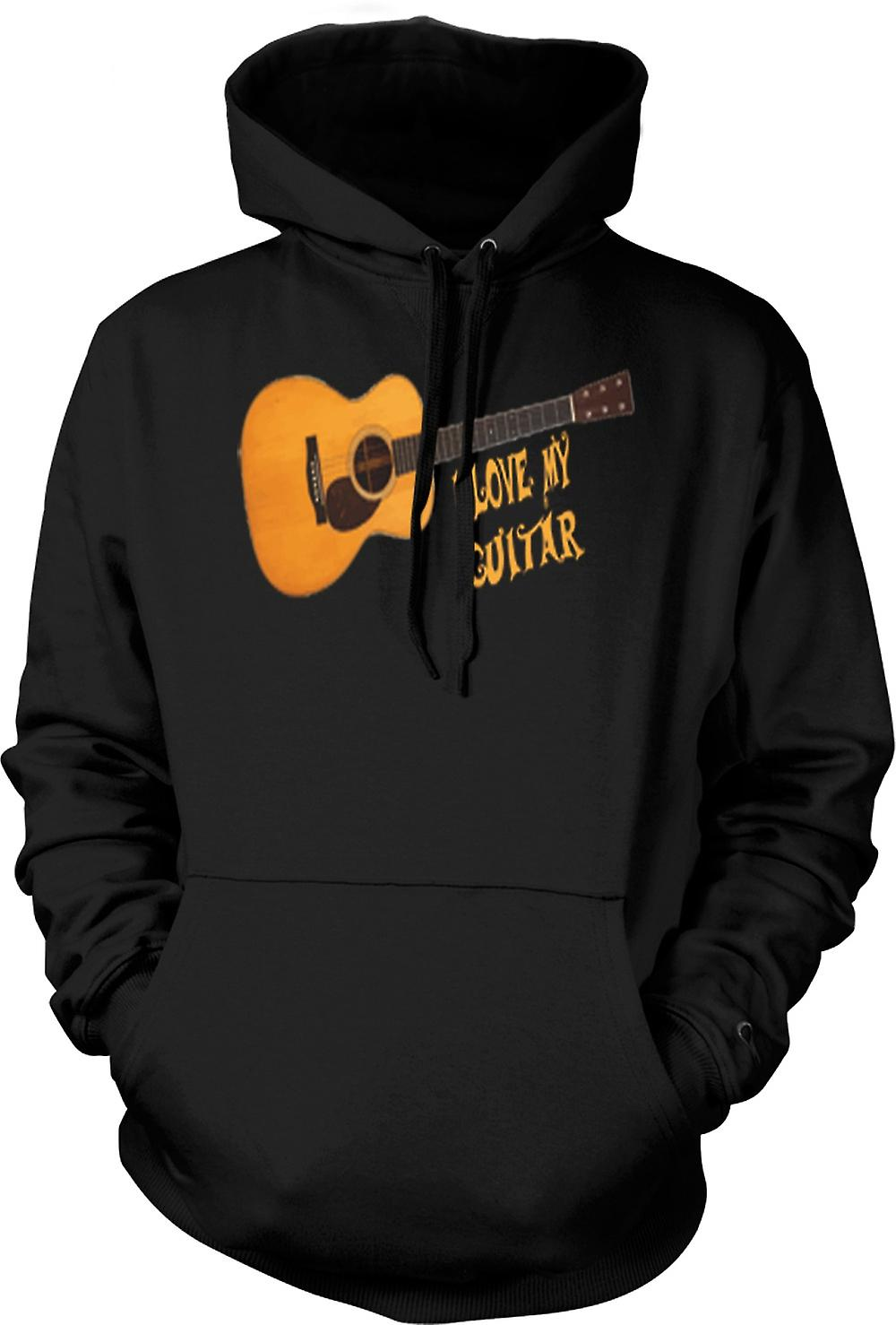 Mens Hoodie - I Love My Acoustic Guitar
