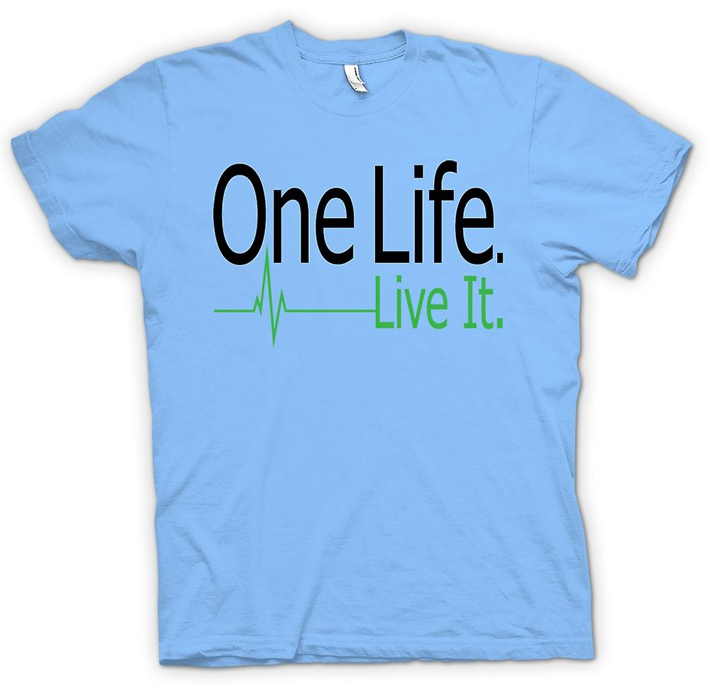Mens T-shirt - One Life, Live It