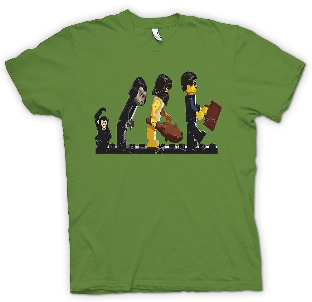 Mens T-shirt - Lego Mans Evolution - Funny