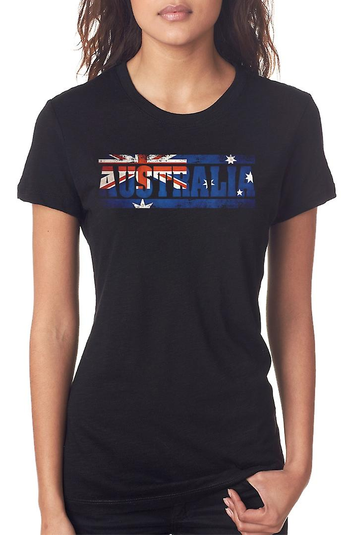 Australia Australia Flag - Words Ladies T Shirt