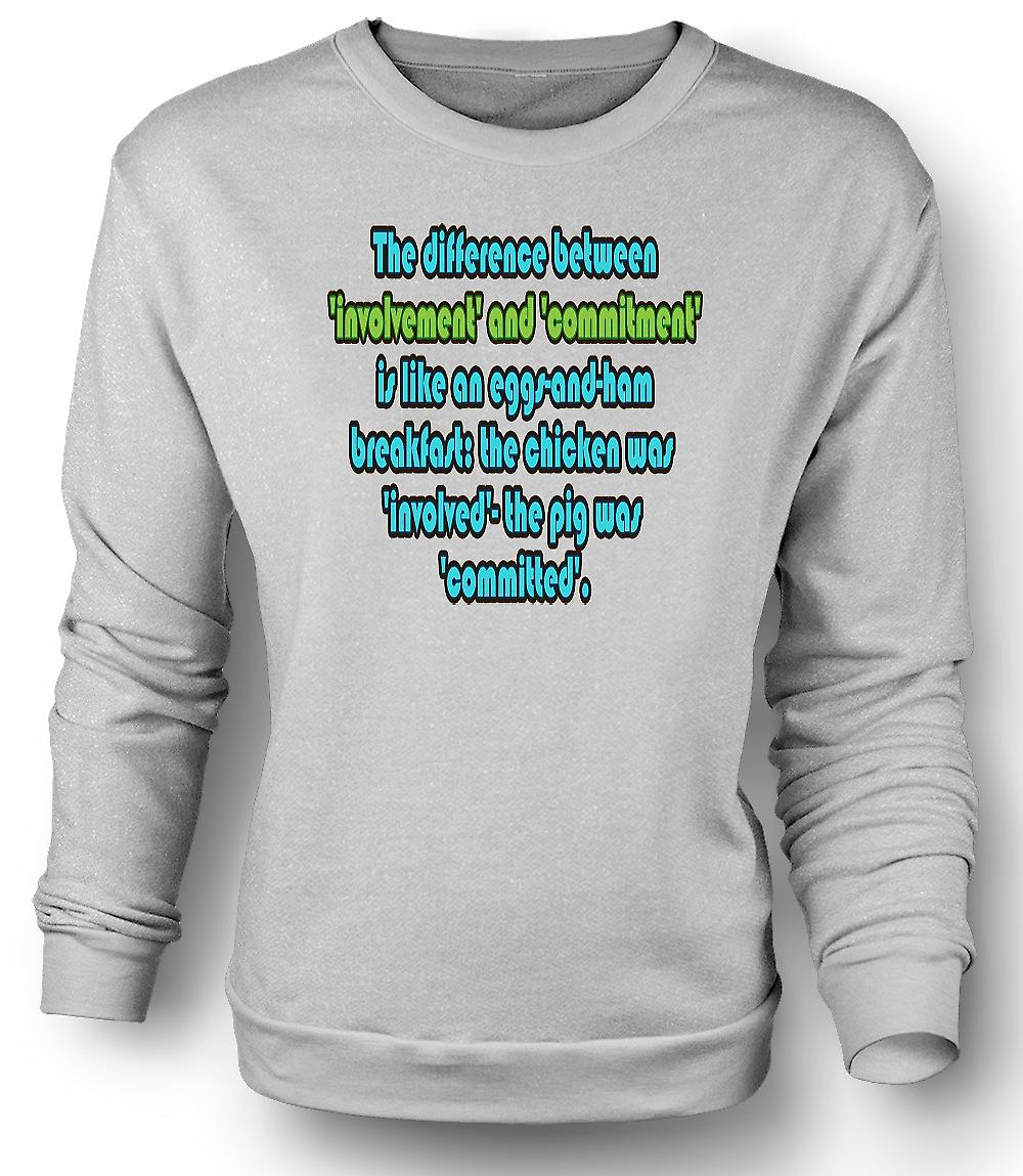 Mens Sweatshirt Involvement & Commitment Quote - Martina Navratilova