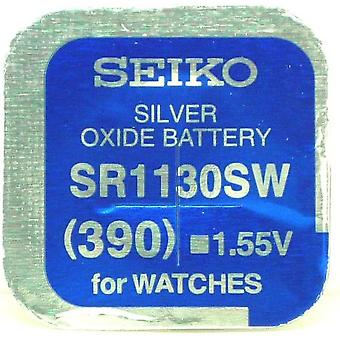 Seiko 390 (sr1130sw) 1.55v Silver Oxide (0%hg) Mercury Free Watch Battery - Made In Japan