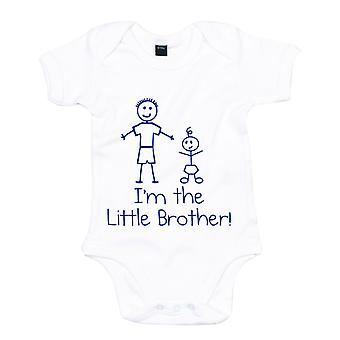 I'm The Little Brother White with Blue Baby Grow