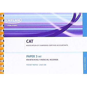 (INT) Maintaining Financial Records - Pocket Notes: Paper 3 (Cat)