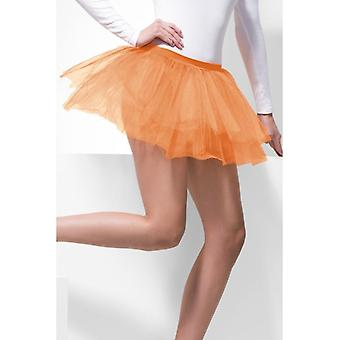Womens Orange Tutu Underskirt  Fancy Dress Accessory