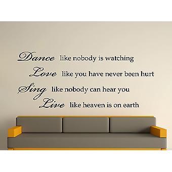 Dans som ingen ser væg kunst klistermærke - sort