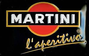 Martini logo embossed steel sign