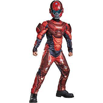 Rode Spartaanse Halo kostuum voor kinderen